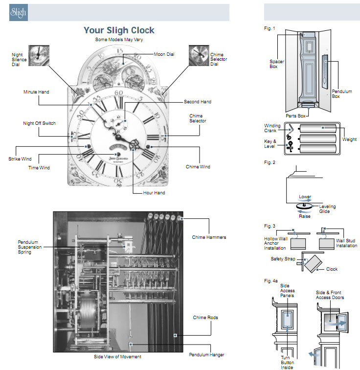 Sligh Grandfather Clock Setup - Basic Instructions on Setup