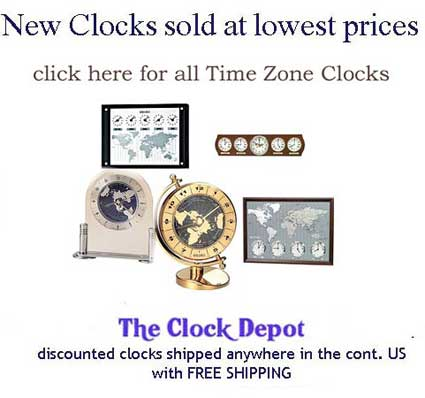 Click here to view all Time Zone Clocks Now On Sale