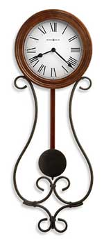 Howard Miller Yvonne 625-400 Wrought-Iron Wall Clock CLICK FOR MORE DETAILS