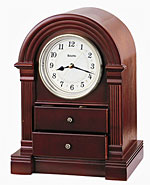Bulova B1880 Anniston Walnut Quartz Mantel Clock CLICK FOR MORE DETAILS