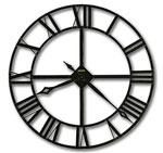 Howard Miller Lacy II 625-423 Wrought Iron Wall Clock CLICK FOR MORE DETAILS