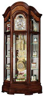 Howard Miller Majestic II 610-939 Curio Grandfather Clock CLICK FOR MORE DETAILS