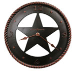 Howard Miller Maverick 625-445 Texas Star Wall Clock CLICK FOR MORE DETAILS