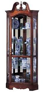Howard Miller Berkshire 680-205 Corner Curio Cabinet CLICK FOR MORE DETAILS