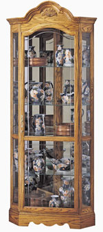 Howard Miller Wilshire 680-207 Oak Corner Curio Cabinet CLICK FOR MORE DETAILS
