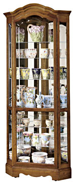 Howard Miller Jamestown II 680-250 Oak Corner Curio Cabinet CLICK FOR MORE DETAILS