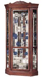 Howard Miller Embassy II 680-290 Cherry Corner Curio Cabinet CLICK FOR MORE DETAILS