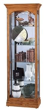 Howard Miller Torrington 680-341 Oak Curio Cabinet CLICK FOR MORE DETAILS