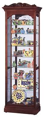 Howard Miller Hastings 680-342 Cherry Curio Cabinet CLICK FOR MORE DETAILS