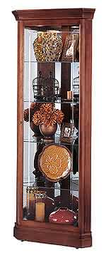 Howard Miller Lynwood 680-345 Cherry Corner Curio Cabinet CLICK FOR MORE DETAILS