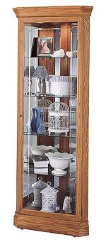 Howard Miller Hammond 680-347 Oak Corner Curio Cabinet CLICK FOR MORE DETAILS
