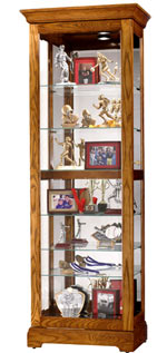 Howard Miller Moorland 680-471 Oak Curio Cabinet CLICK FOR MORE DETAILS