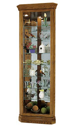 Howard Miller Dominic 680-485 Oak Corner Curio Cabinet CLICK FOR MORE DETAILS
