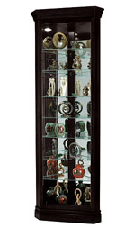 Howard Miller Duane 680-487 Satin Black Corner Curio Cabinet CLICK FOR MORE DETAILS