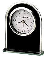 Howard Miller Ebony Luster 645-702 Black Table Clock CLICK FOR MORE DETAILS
