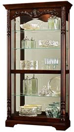 Howard Miller Felicia 680-497 Rustic Cherry Curio Cabinet CLICK FOR MORE DETAILS