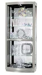 Howard Miller Bradington II 680-396 Nickel Finish Curio Cabinet CLICK FOR MORE DETAILS