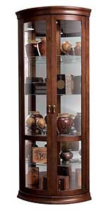 Howard Miller Chancellor 680-503 Cherry Corner Curio Cabinet CLICK FOR MORE DETAILS