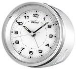 Seiko QXE021WLH Silver-Tone Metallic Bedside Alarm Clock CLICK FOR MORE DETAILS