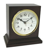 New England Square Solid Cherry Table Clock CLICK FOR MORE DETAILS