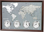 World Time Clock by Rhythm Model CMW903UR06 CLICK FOR MORE DETAILS