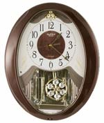 Rhythm Sable Snowflake 4MJ893WD06 Musical Motion Wall Clock  CLICK FOR MORE DETAILS