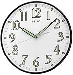 Seiko QXA521KLH Luminous Hands Wall Clock CLICK FOR MORE DETAILS