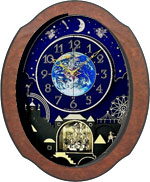 Rhythm 4MH879WU06 Timecracker Cosmos Clock CLICK FOR MORE DETAILS