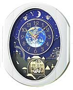 Rhythm 4MH839WB19 Peaceful Cosmos Entertainer Musical Clock CLICK FOR MORE DETAILS