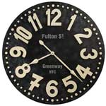 Howard Miller Fulton Street 625-557 36 Inch Large Wall Clock CLICK FOR MORE DETAILS