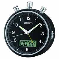 Seiko QHE114KLH Brandon Stopwatch Alarm Clock CLICK FOR MORE DETAILS