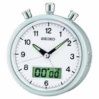 Seiko QHE114SLH Justin Stopwatch Alarm Clock CLICK FOR MORE DETAILS