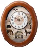 Rhythm 4MH860WU06 American Prairie Musical Clock CLICK FOR MORE DETAILS