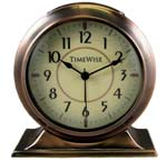 TimeWise Collegiate TW13008 Antique Copper Alarm Clock CLICK FOR MORE DETAILS
