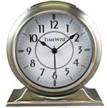 TimeWise Collegiate TW13007 Brushed Silver Alarm Clock CLICK FOR MORE DETAILS