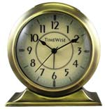 TimeWise Collegiate TW13010 Brushed Gold Alarm Clock CLICK FOR MORE DETAILS
