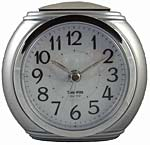 TimeWise Harvard TW15002 Silvertone Retro Alarm Clock CLICK FOR MORE DETAILS