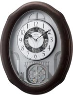 Rhythm 4MH895WU06 Glory Espresso Musical Motion Wall Clock CLICK FOR MORE DETAILS