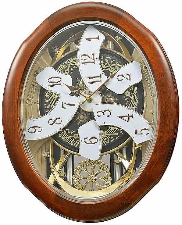 Rhythm 4mh884wd06 Magnificent Time Cracker Musical Clock