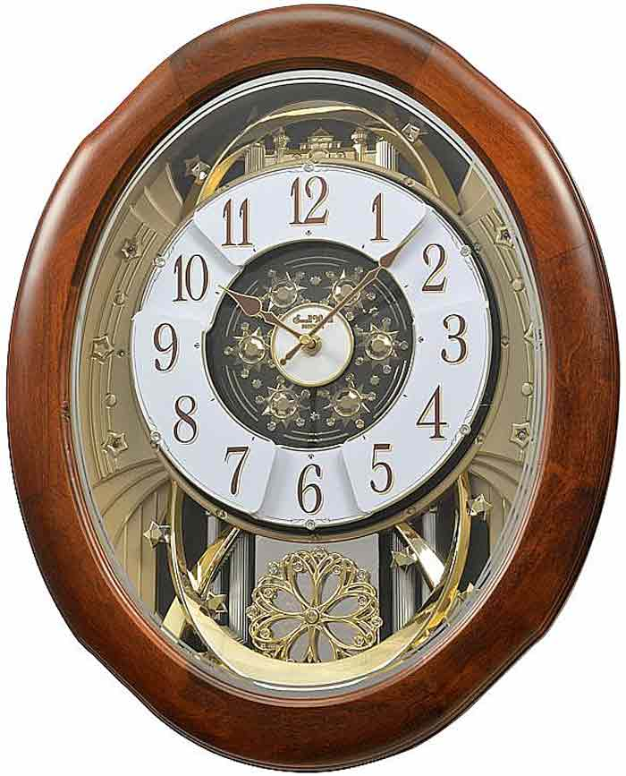 Rhythm 4mh884wd06 Magnificent Time Cracker Musical Clock