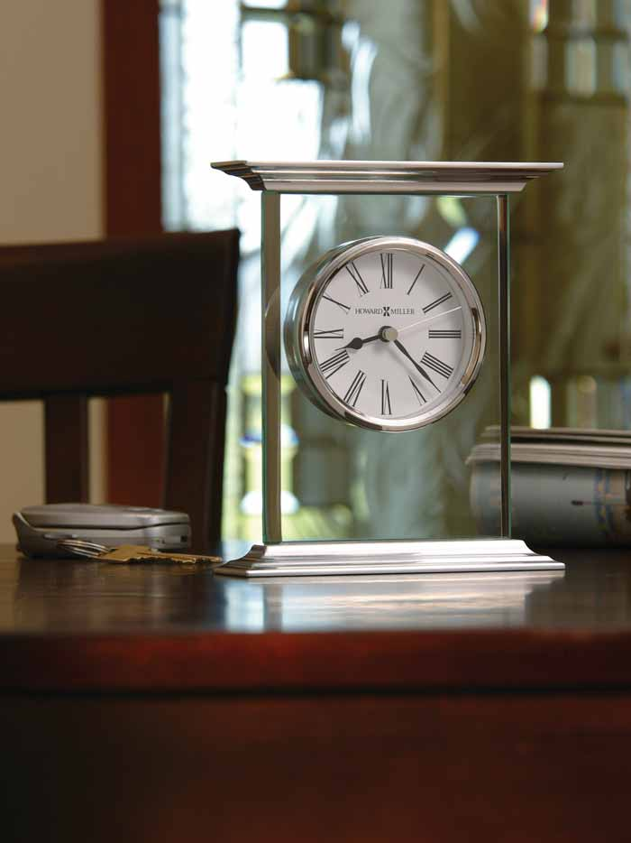 ... Room Setting Of The Howard Miller Clifton 645 641 Glass Table Clock