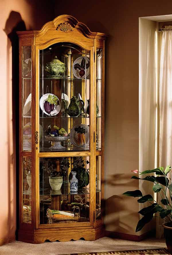howard miller wilshire corner curio cabinet cabinets Corner Curio Cabinets Walmart oak corner curio cabinet curved glass