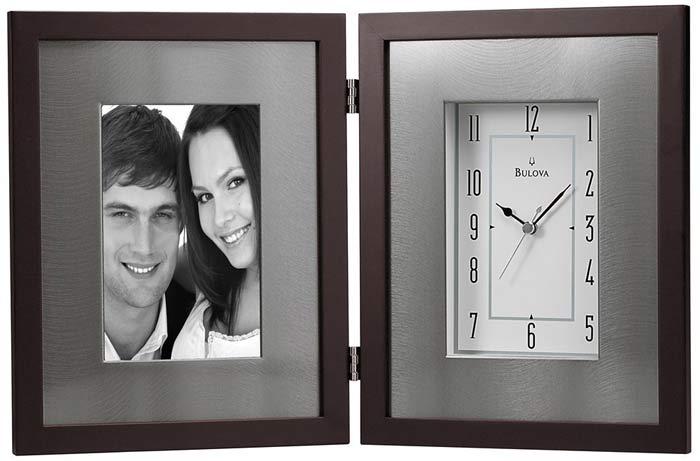 bulova b1234 winfield photo frame clock