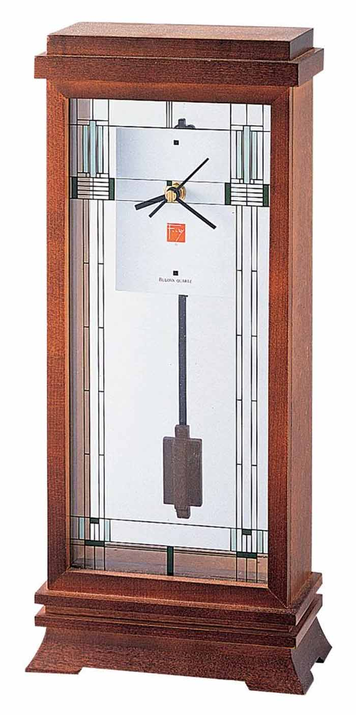 Bulova B1839 Frank Lloyd Wright Willits Mantel Clock The