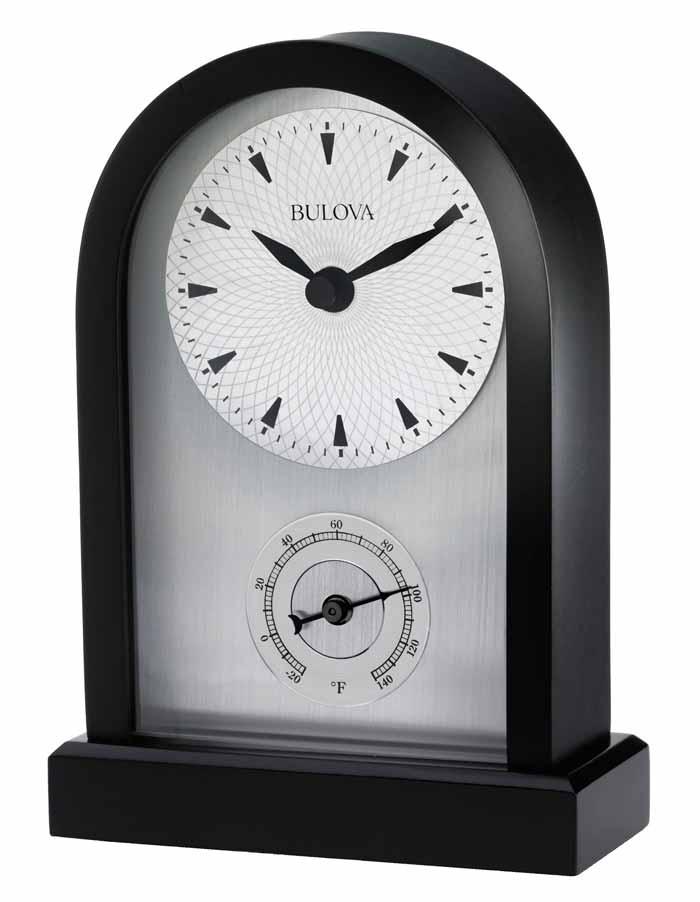 detailed image of the bulova b5007 madison desk clock - Desk Clocks