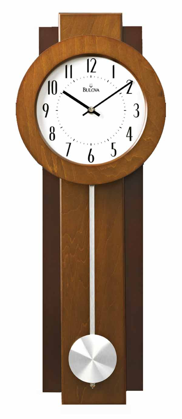 bulova c3383 avent contemporary wall clock