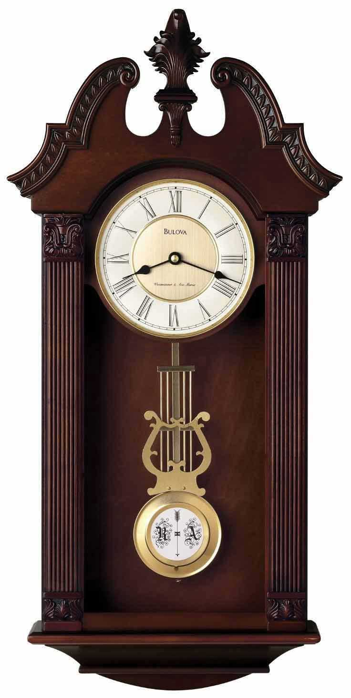 bulova ridgedale c4437 chiming wall clock the clock depot. Black Bedroom Furniture Sets. Home Design Ideas