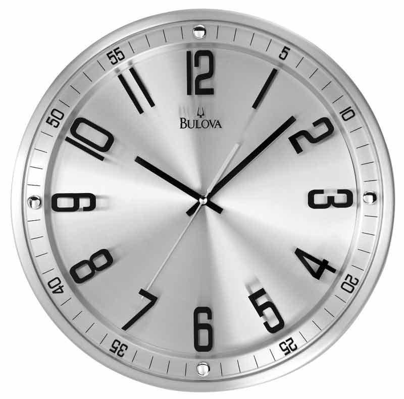 Bulova C4646 Silhouette Contemporary Wall Clock The