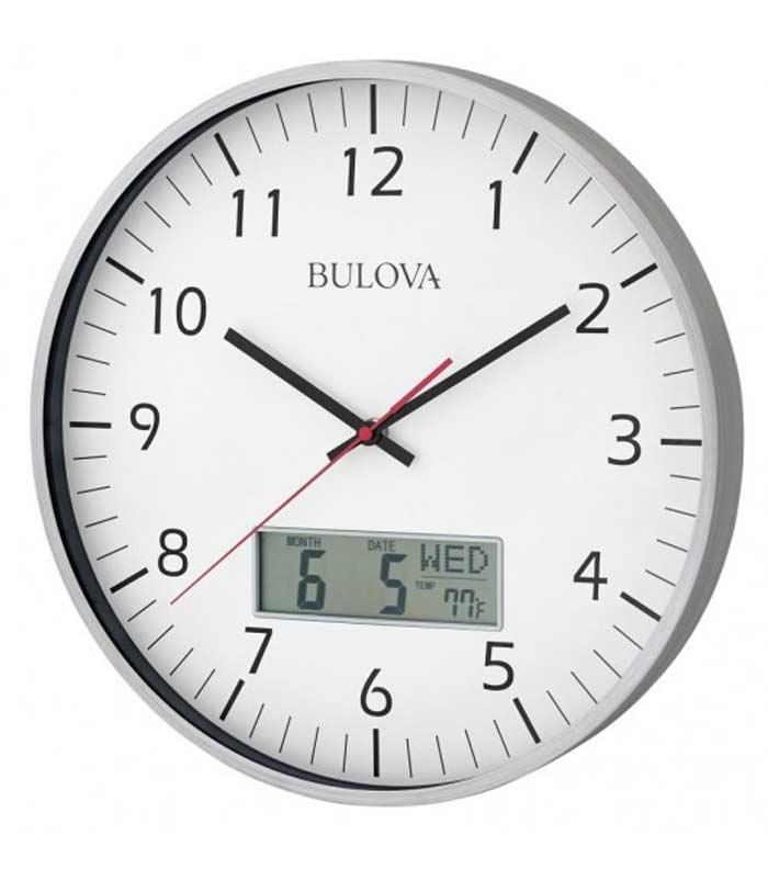 Detailed Image Of The Bulova C4810 Manager Oversized Wall Clock
