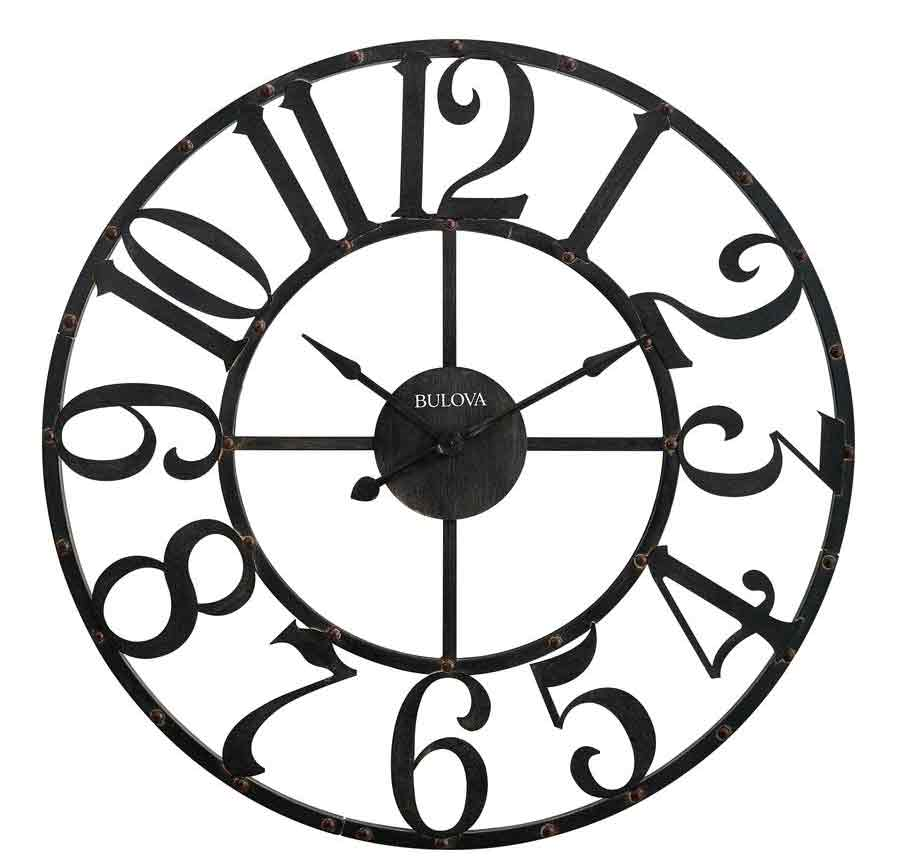 Bulova C4821 Gabriel Large Wall Clock The Clock Depot